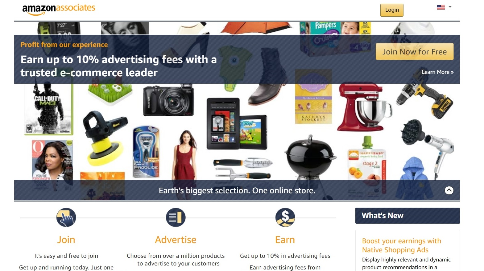 amazon website affiliate marketing for beginners area screenshot