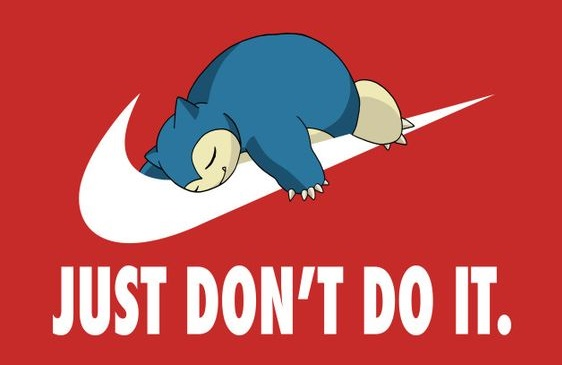 just don't do it nike parody red background